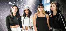 Anna Maria Damm, Anuthida Ploypetch, Katharina Damm and Masha Sedgwick at the PUMA FENTY launch in Berlin-Mitte