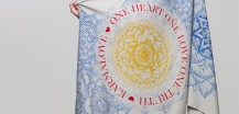 Fair trade scarfs with uplifting messages made by Karmalove