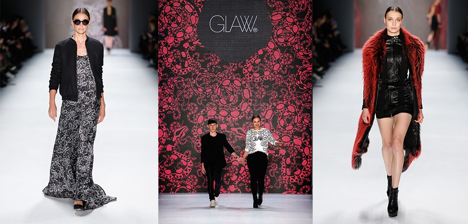 Catwalk impressions of the GLAW fashion show at the MBFW Januar 2015