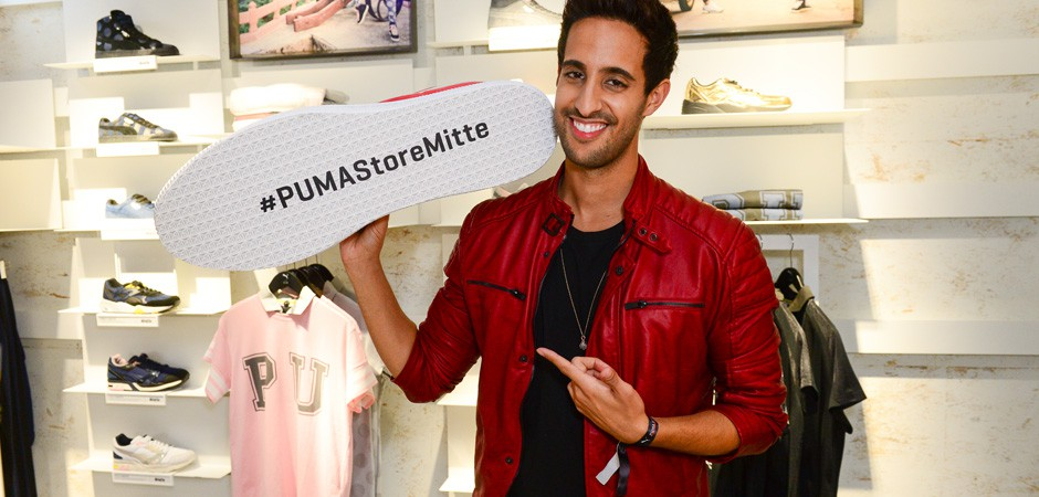Sami Slimani at Puma Store Opening Berlin Mitte Creeper Launch
