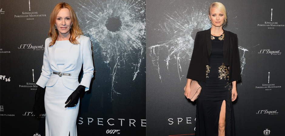 Katja Flint and Franziska Knuppe at S.T.Dupont SPECTRE Event James Bond at KPM Berlin