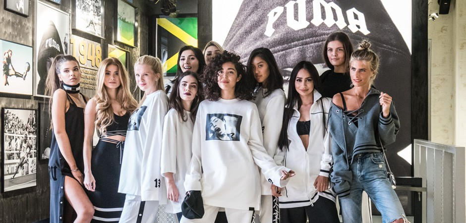 Selected influencer at the PUMA FENTY launch at the store in Berlin-Mitte